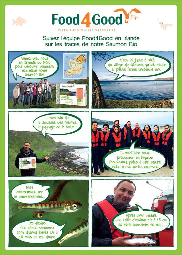Suivez l'équipe Food4Good en Irlande sur les traces de notre Saumon Bio