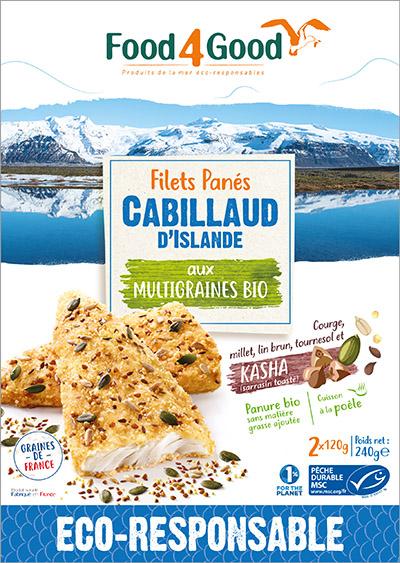 Filets panés de Cabillaud d'Islande MSC aux 5 graines bio