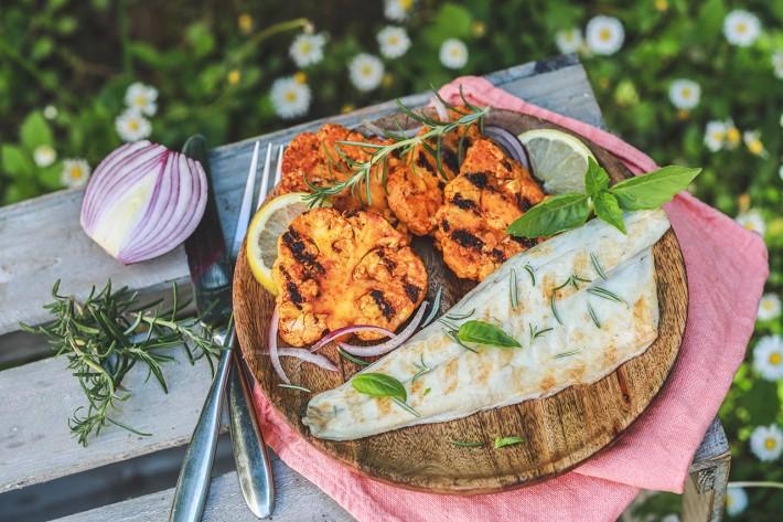 Recette Food4Good - Filet de Bar bio à la plancha, chou-fleur grillé aux épices