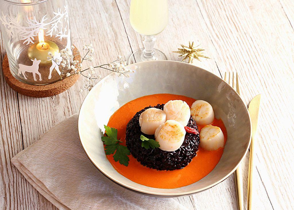 recette-poelee-de-saint-jacques-MSC-risotto-nerone-et-sauce-goji