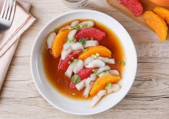 Sashimi de Daurade Bio aux agrumes